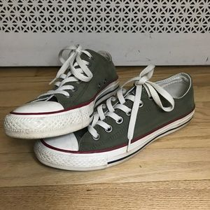 Olive Green Low Top Converse